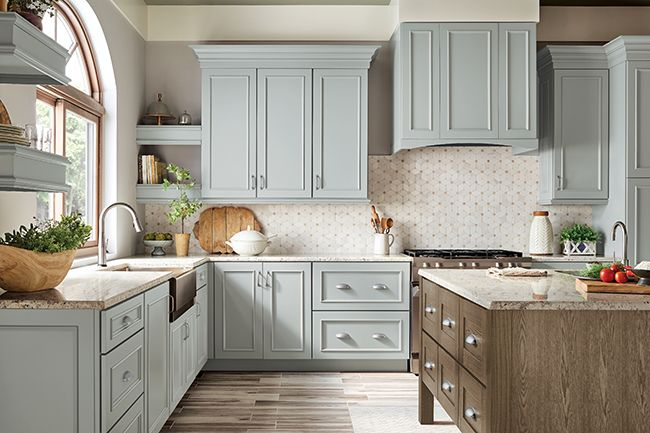Behr Color Rocky Mountain Sky Kitchen Cabinets Kraftmaid Kitchens Kraftmaid Kitchen Cabinets Home Kitchens
