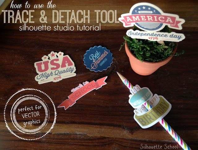 Silhouette Studio Trace and Detach Tool to Make Print and Cuts