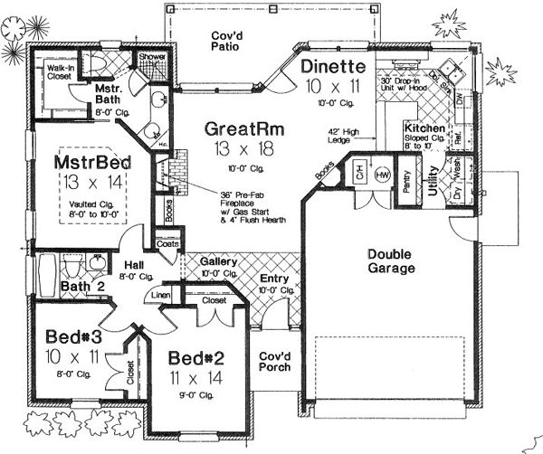 43 best images about house plans under 1800 sq ft on for 1800 square feet house plans india