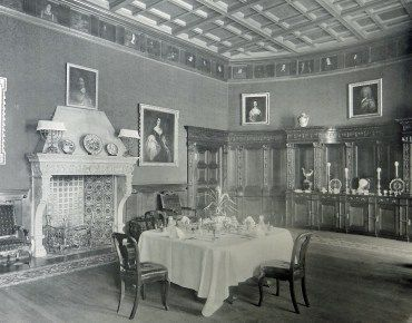 West Dean House State Dining Room circa 1900 | Edward James | Pinterest | Dean