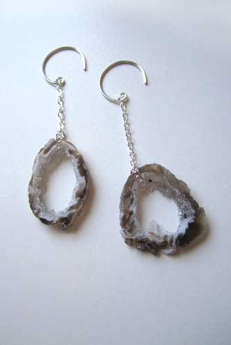agate geode earrings