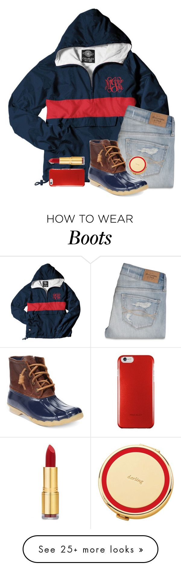 """""""D is for duck boots (and dogs!!)"""" by chevron-elephants on Polyvore featuring Abercrombie & Fitch, Sperry Top-Sider, Isaac Mizrahi, Kate Spade and plus size clothing"""