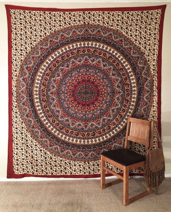 Mandala art Mandala wall hanging Bohemian tapestry by mandalasty