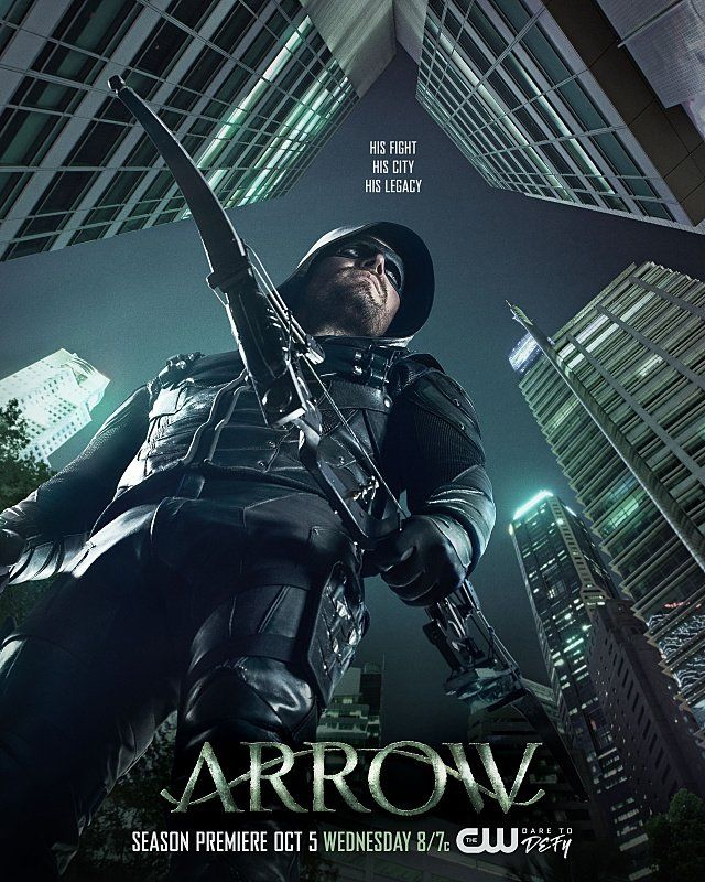 The new season of #Arrow premieres Wednesday, October 5 on The CW.