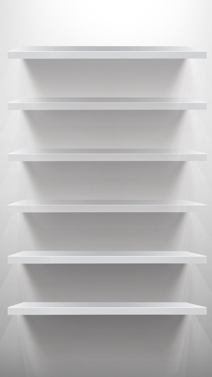 TAP AND GET THE FREE APP! Shelves Simple White Shadows