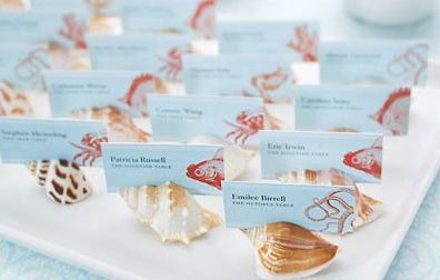 Make unique place cards that reflects the theme you have in mind.