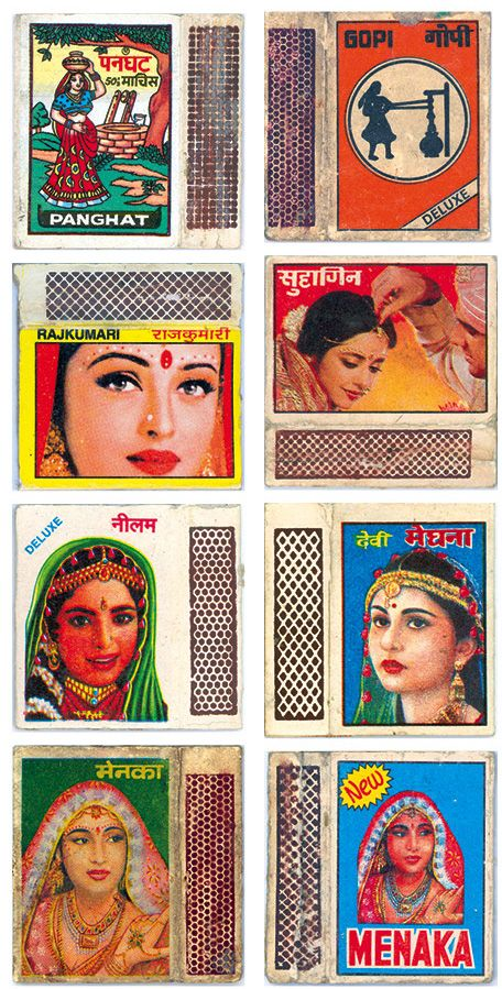 500 striking Indian matchbox labels gathered by Shahid Datawala over the course of several decades