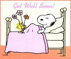 Bildresultat för get well soon snoopy images