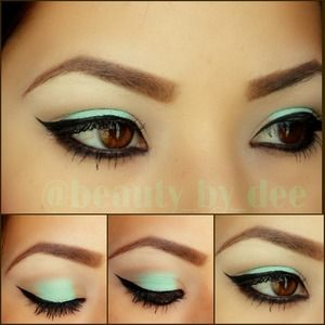 feeling minty today  No falsies follow me on ig @beauty_by_dee ((: