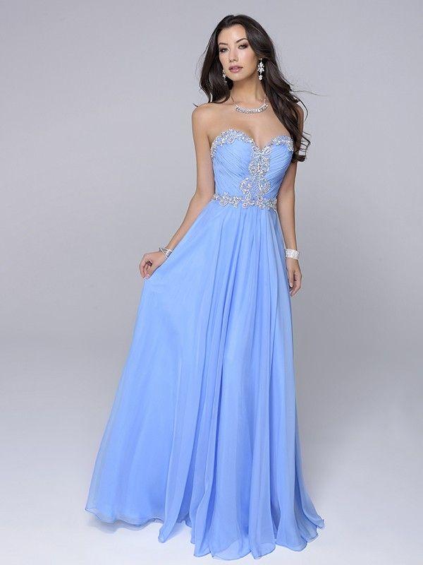 A-Line/Princess Sleeveless Sweetheart Chiffon Ruched Floor-Length Dresses