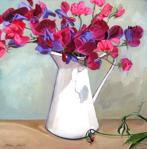 'Sweet Pea and Enamel Jug' Print Limited Edition of 50