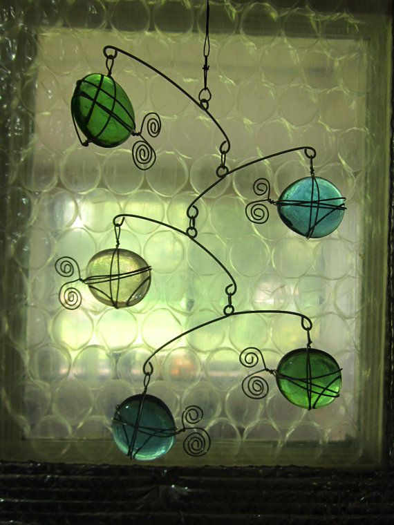 MOBILE COLORED GLASS by CharestStudios on Etsy, $24.00