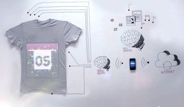 TshirtOS is webconnected, programmable, 100 percent cotton