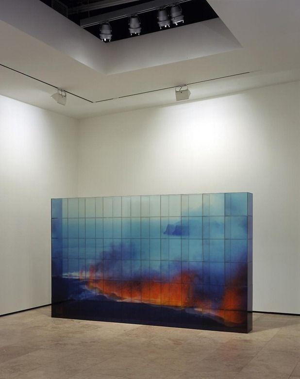 By TERESITA FERNANDEZ || Vermillion Landscape, 2006 ||!plexiglass cubes with photographic image overlay