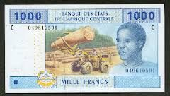 Gabon's natural currency is the CFA Franc, do to french influences. Surprisingly, six of these CFA Francs equal one penny.