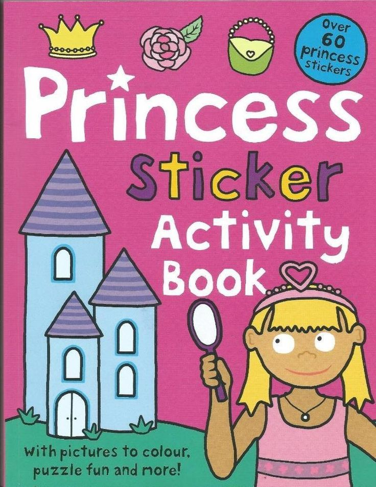 Princess Sticker Activity Book - Over 60 Princess Stickers - Puzzles - NEW