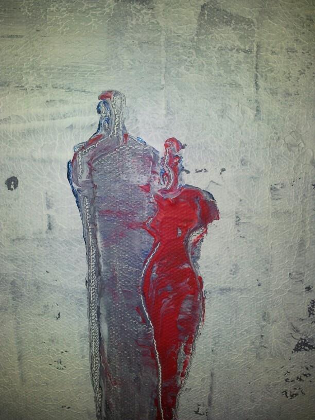 'Awsome woman' acrylic on canvas by Tahmina Stenevik 2012.