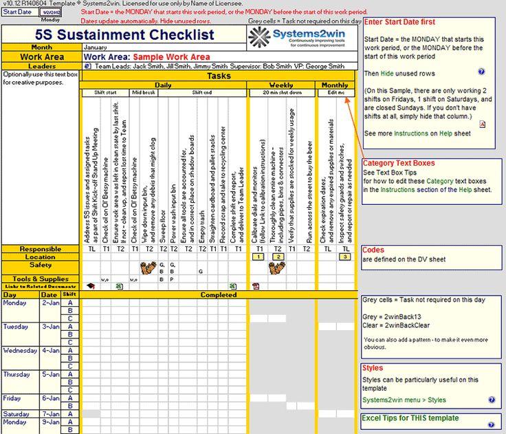 Preventive Maintenance Checklist template