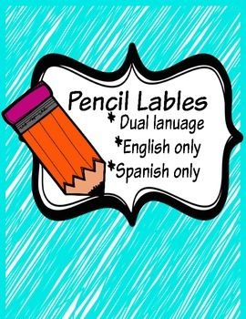 This product contains labels for your dual language classroom. This will help your students know where to go to get the sharpened pencils and where to place broken pencils.If there is a color scheme that you would like, please email me @ enidortez@gmail.comIf you have any suggestions or comments, you may write me at enidortez@gmail.comIf you like this product please rate it on the TeachersPayTeachers page.