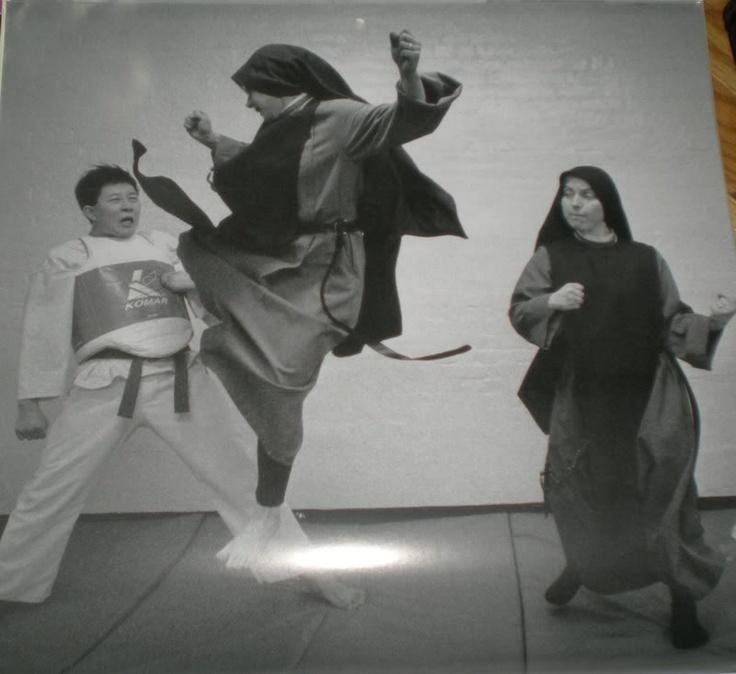 Forget Fruit Ninja, How About Nun Ninja!