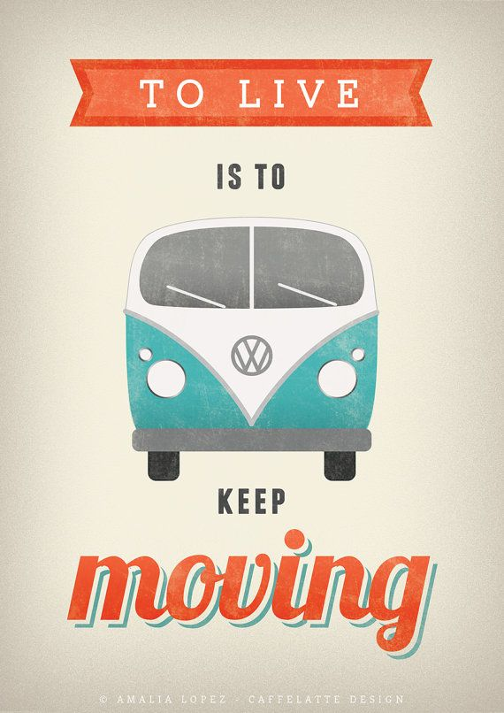 Volkswagen print. VW poster. Typography poster. by LatteDesign