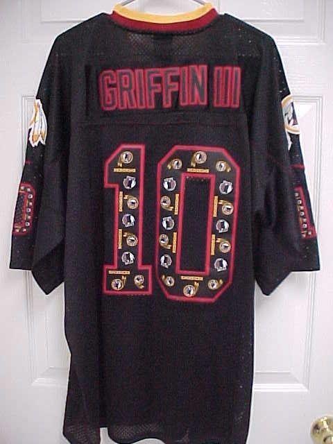 ROBERT GRIFFIN III Washington Redskins 10 Black Baylor Bear Jersey 52 Nike New  #Nike #WashingtonRedskins