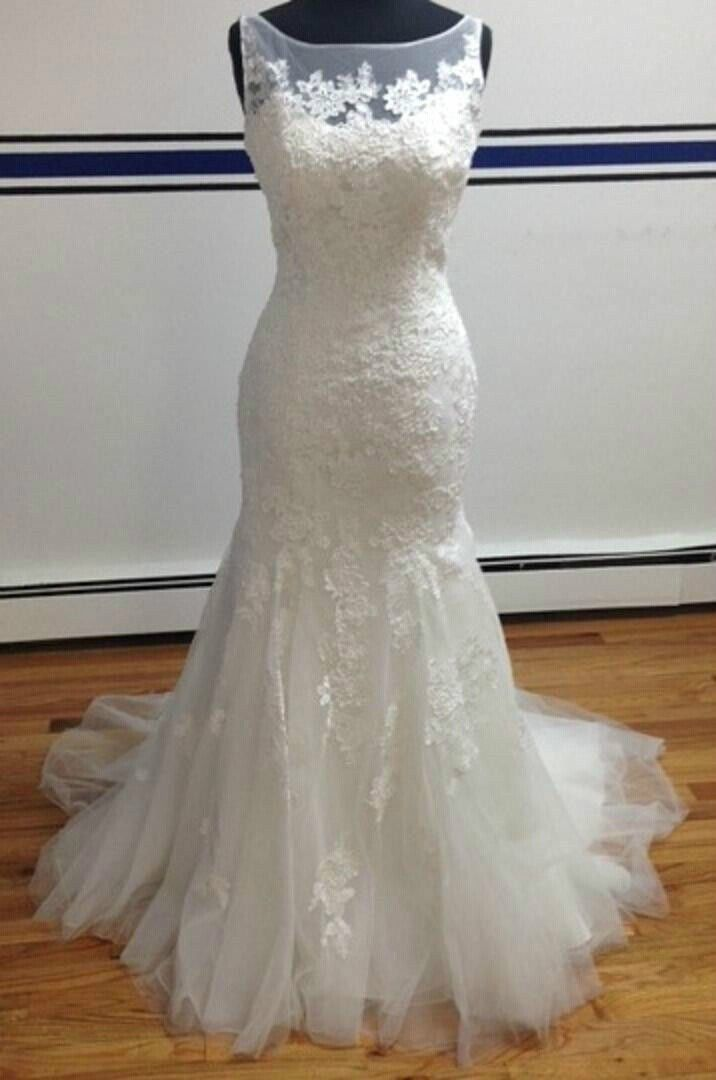 Real picture NEW 2015 Elegant Long MERMAID WEDDING DRESS with lace appliques scoop sleeveless bridal gown made to measure-in Wedding Dresses from Apparel & Accessories on Aliexpress.com | Alibaba Group