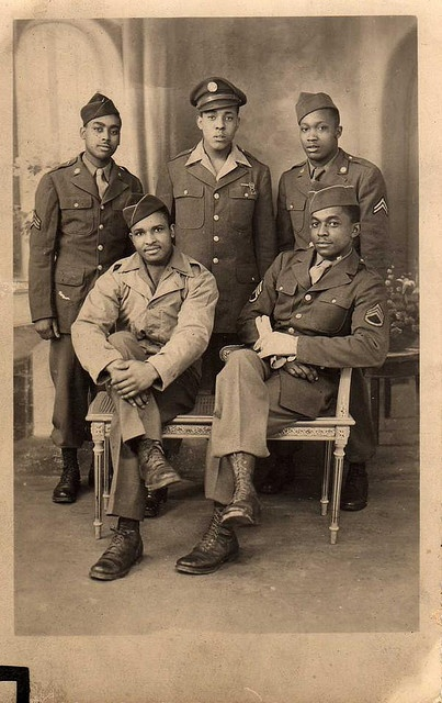 France, WWII. African American GI's.