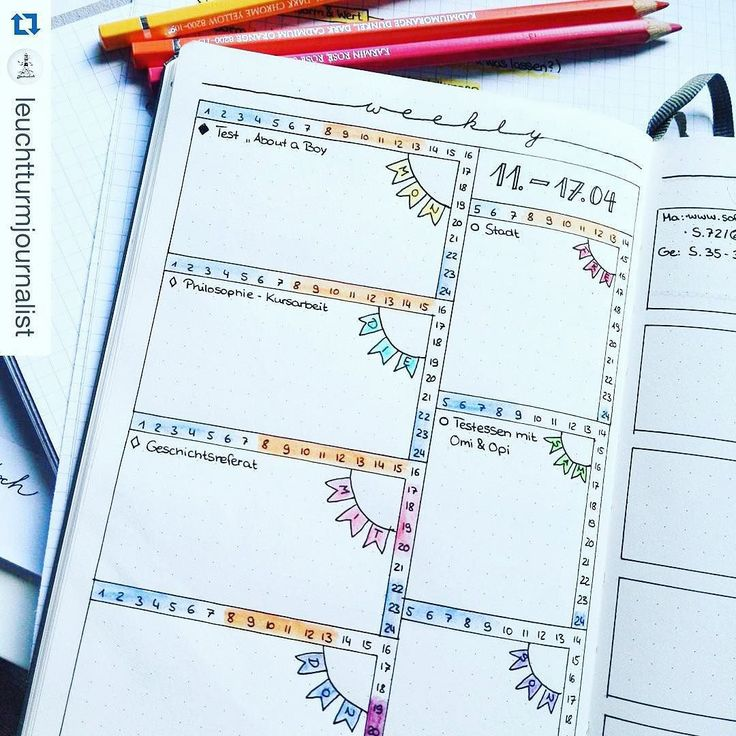 Bullet Journal Weekly Spreads | Show Me Your Planner (Planning and Journal…