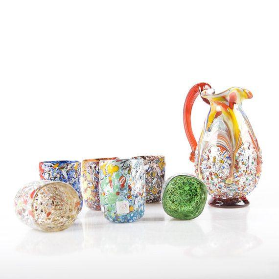 Murano glass set  Original Venetian Glassware  by YourMurano, €405.00