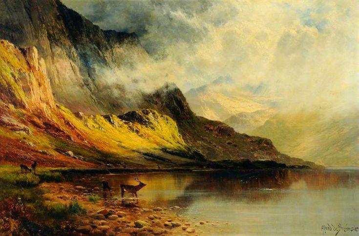 A Glint of Sunshine, Glen Ogle by Alfred de Breanski ...
