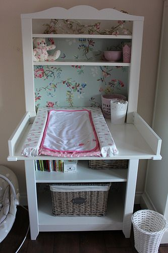 Pretty deco on Ikea changing table