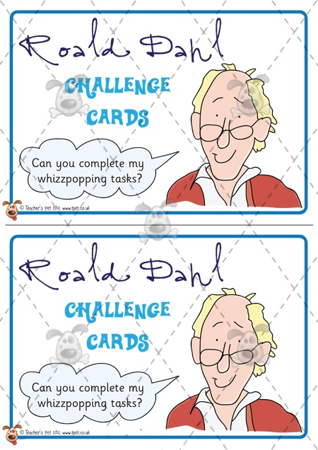 Teacher's Pet Activities & Games » Roald Dahl Challenge Cards » EYFS, KS1, KS2 classroom activity and game resources » A Sparklebox alternative