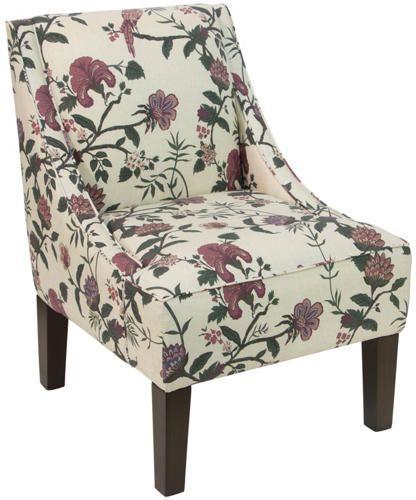 Best Bliss Floral Swoop Arm Chair Art Van Furniture Red 400 x 300