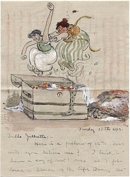 Alfred Joseph Frueh to Giuliette Fanciulli, 1913 Apr. 13. Alfred J. Frueh papers, Archives of American Art, Smithsonian Institution.