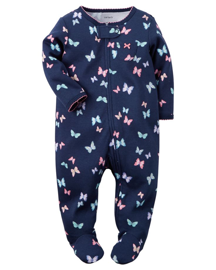 Baby Girl Cotton Zip-Up Sleep & Play | Carters.com