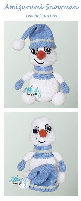 Amigurumi snowman - crochet pattern by Lovely Baby Gift