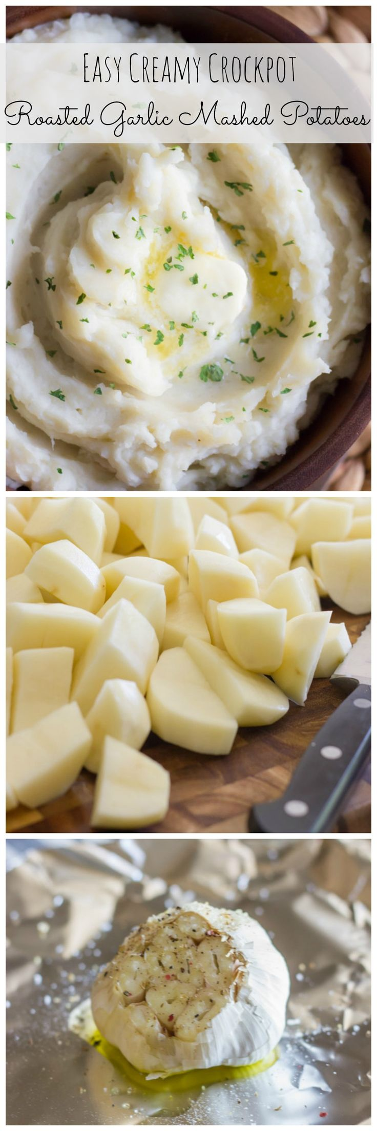 You can roast your garlic and make the creamiest mashed potatoes all in the crockpot!