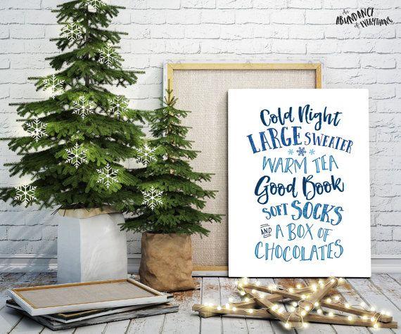 Cold Night Large Sweater   Warm Tea Good Book Soft Socks and A Box of Chocolates, Digital Wall Art by AbundanceEverything