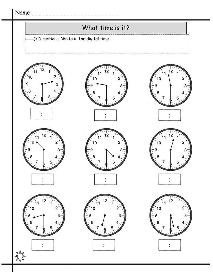 Blank Clock Worksheet to Print   Activity Shelter