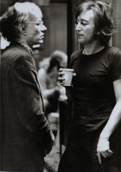 Andy Warhol John Lennon by Bob Gruen