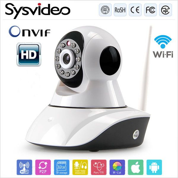 Find More CCTV Cameras Information about ONVIF 720P HD wirless home mini ip camera Plug and Play P2P two way audio IR cut night vision wifi webcam SC 6100HB,High Quality CCTV Cameras from Sysvideo on Aliexpress.com