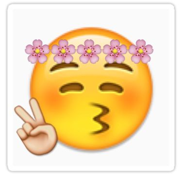 Flower-crown peace sign emoji by Victoriawbu