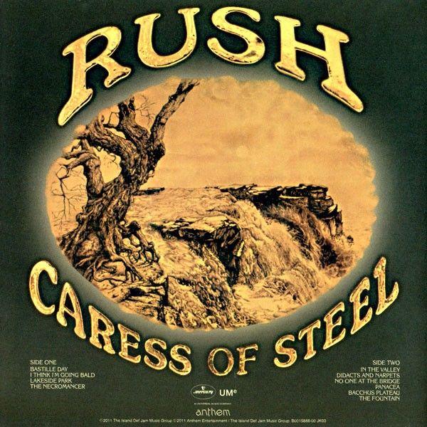 RUSH Caress of Steel Back