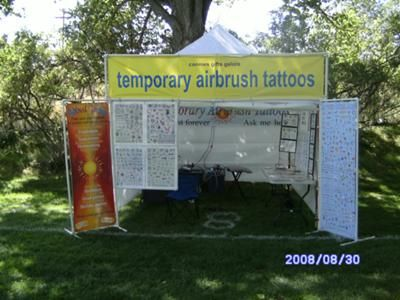 Temporary Tattoo Booth: Connies Gifts Galore will provide airbrush temporary tattoos for your next event. We provide fun and entertainment for any occasion or event. Contact us