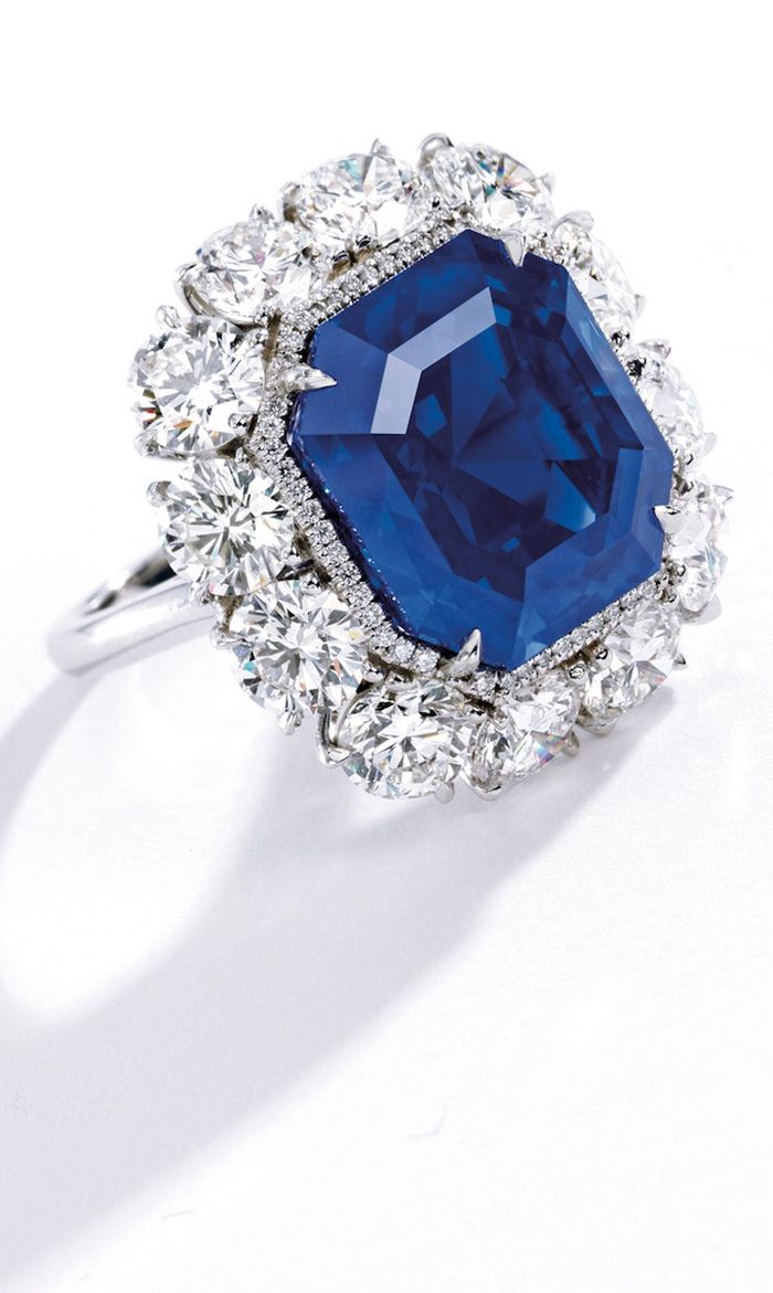 This 17.16-carat Kashmir sapphire ring is the most expensive sapphire. It sold at Sotheby's for $4.06 million, a record $236,404 per carat.