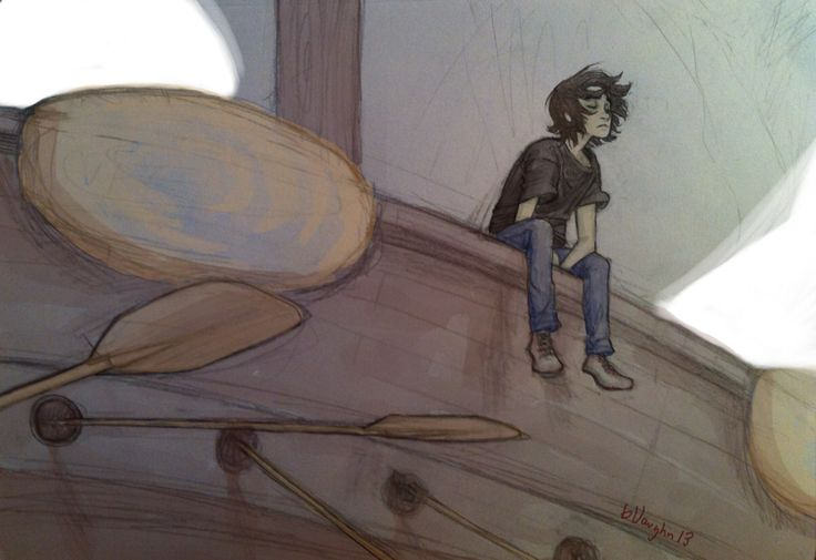 Nico lost in his thoughts, aboard The Argo II ... Nico Di Angelo Fan Art Burdge