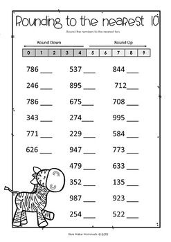 Rounding Numbers to the Nearest Ten (10) or Hundred (100) - Round ...