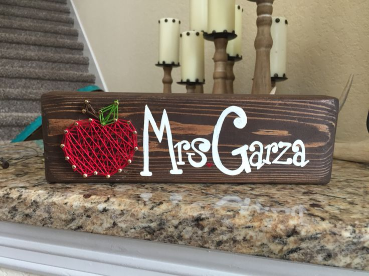 Apple String Art With Hand Painted Name Search Restoredtoadore On Instagram