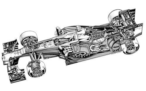 cutaways:  Red Bull Renault RB9